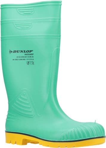 Dunlop Acifort HazGuard Safety Wellingtons Green / Black / Yellow